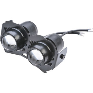 Ellipsoid low/high-beam headlight