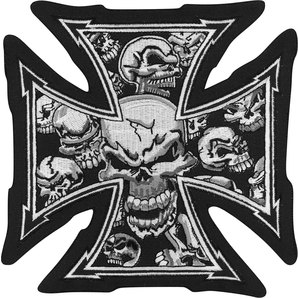 ÉCUSSON GRAY SKULL CROSS