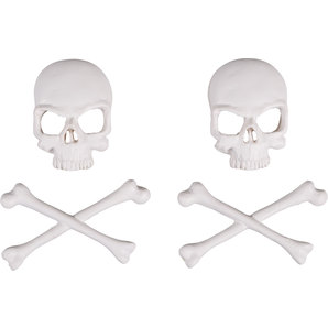 Lethal Threat skull decorative emblems