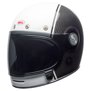 Bell Motorcycle Helmet >> Bell Bullitt Carbon Pierce Black White