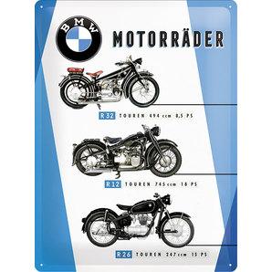acheter plaque en m tal bmw bikes dimension 30x40cm louis motos et loisirs. Black Bedroom Furniture Sets. Home Design Ideas