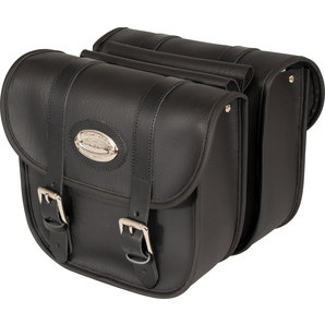 Saddlebags, synthetic leather