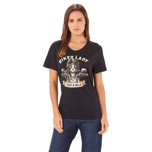 Biker Cat dames t-shirt