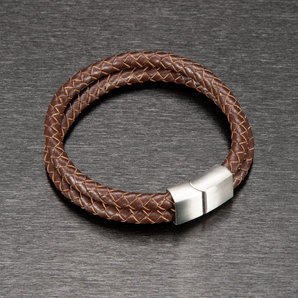 *Leather* leather wristband