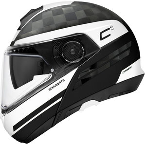 7353ff21 Buy Schuberth C4 Pro Carbon Tempest White Flip-Up Helmet | Louis ...