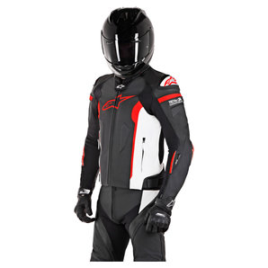 Alpinestars Leather Jacket >> Alpinestars Missile Leather Combi Jacket