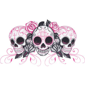GIRL SKULLS DECAL