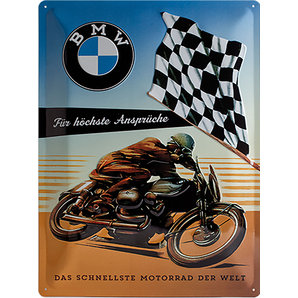 "Metal Sign BMW ""Motor-Sport"""