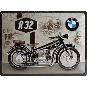 "Metal Sign BMW ""BMW R32"""
