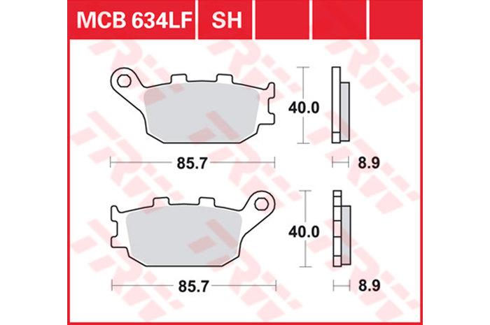Lucas Bremsbel/äge TRW MCB 634/F/ür HONDA CBR 954/RR Fireblade SC50/02 03/ hinten