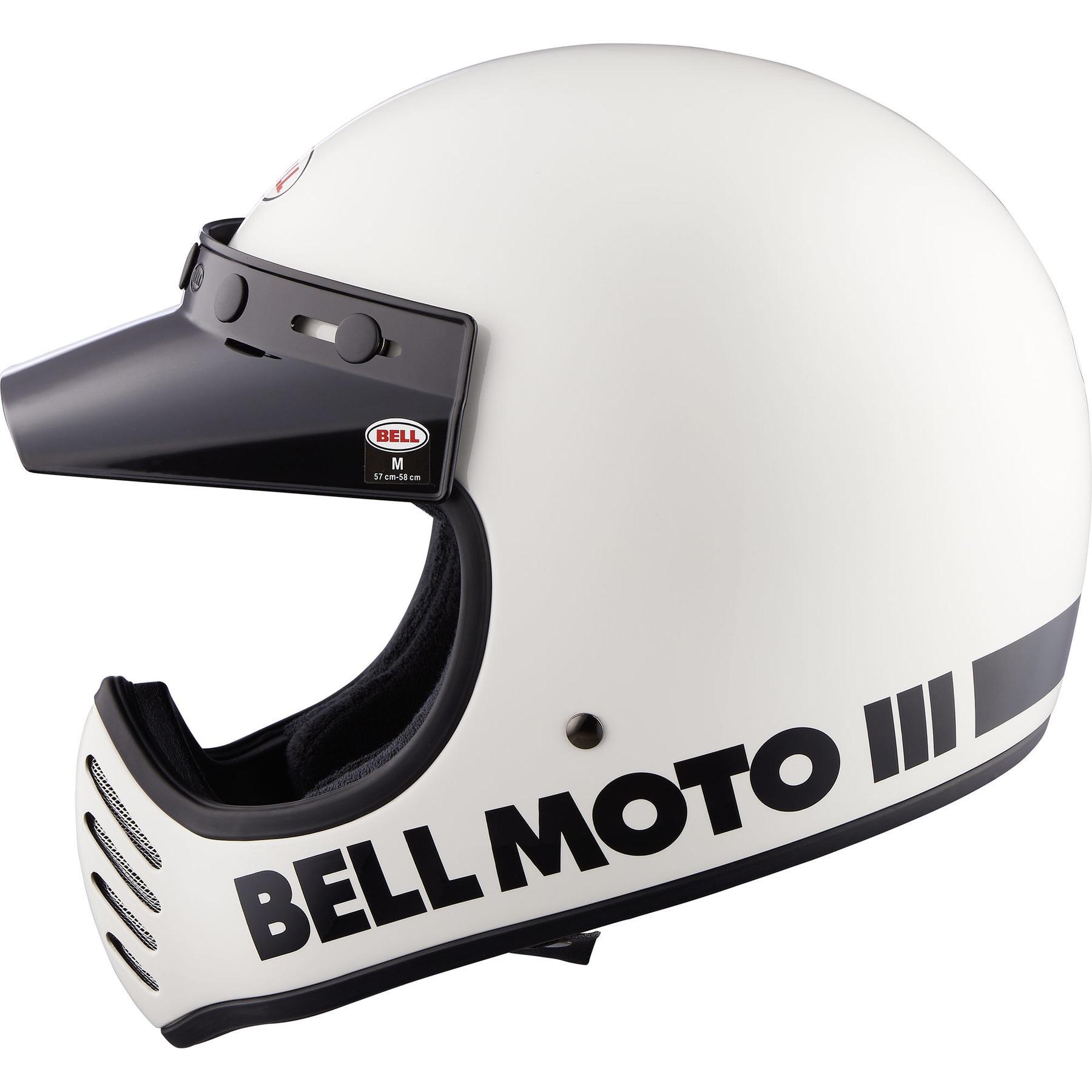 4 Kit stripes stickers standard retro REFLECTIVE motorcycle helmet WHITE