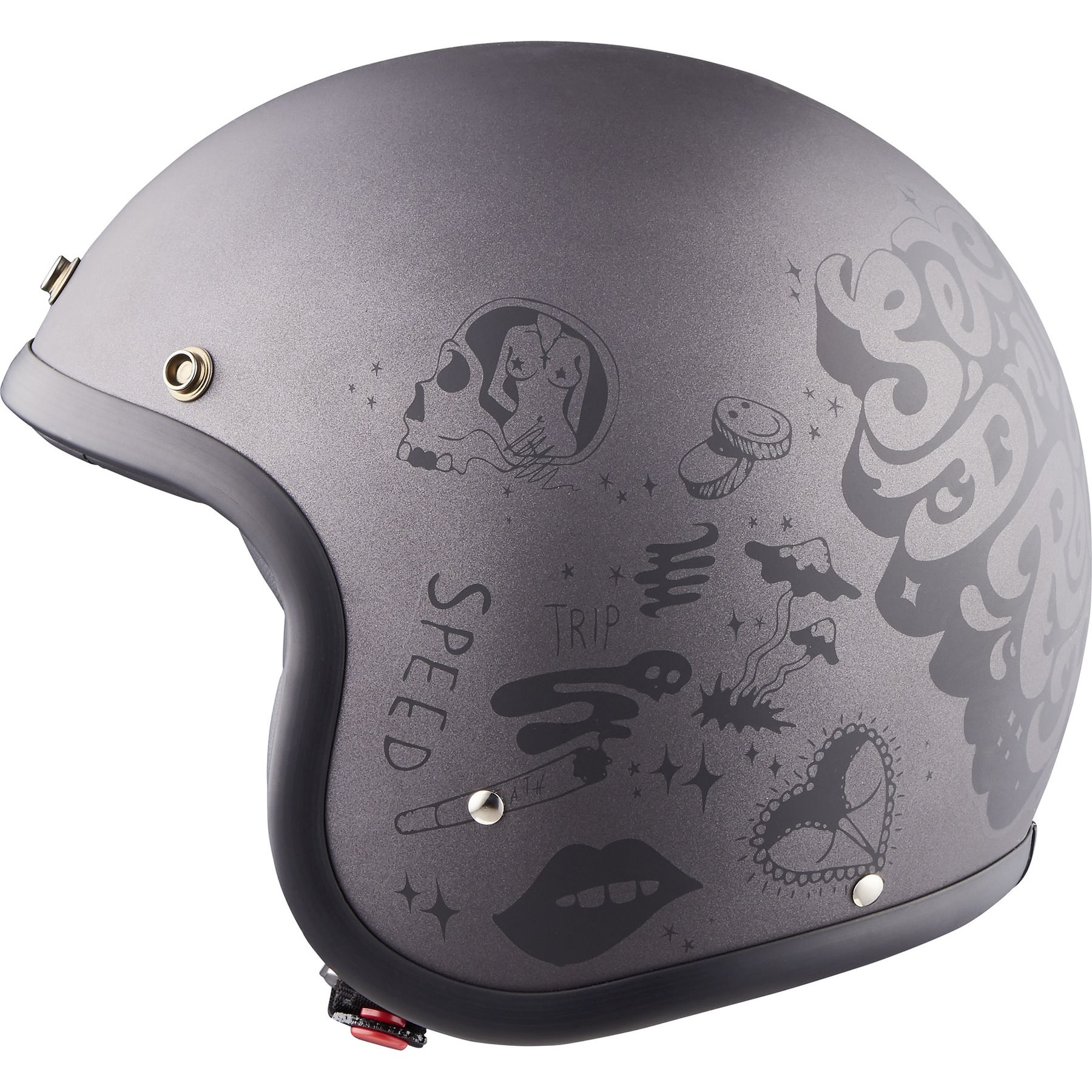 Size XL Grey DMD Vintage Helmet Moto You Rock