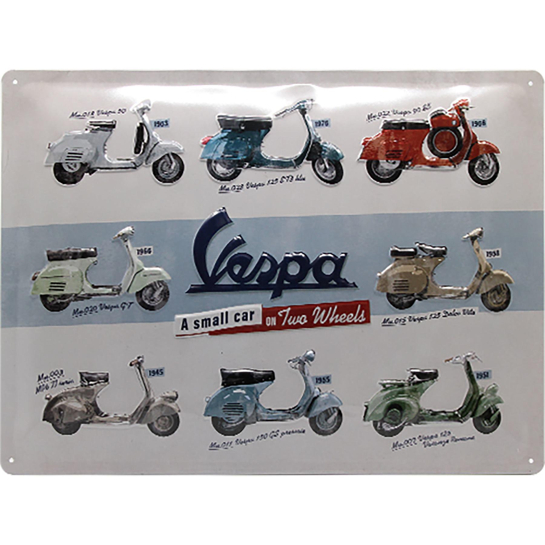 Vespa Garage  Blechschild