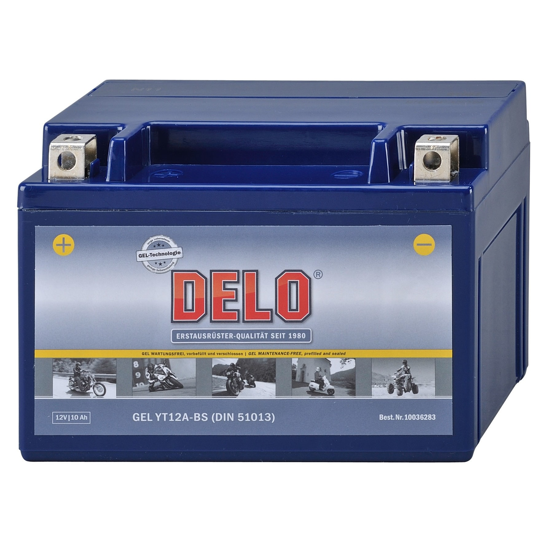 10Ah wartungsfrei GEL Batterie YT12A-BS 12V