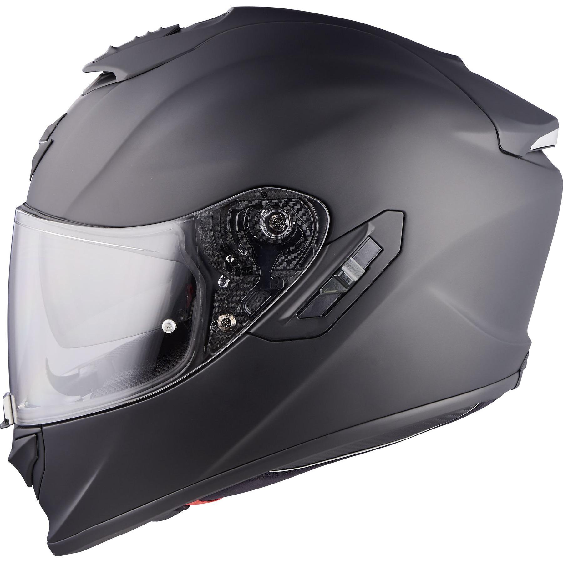 Free P/&P Scorpion EXO 1400 Air Solid Glossy Black Full Face Motorcycle Helmet
