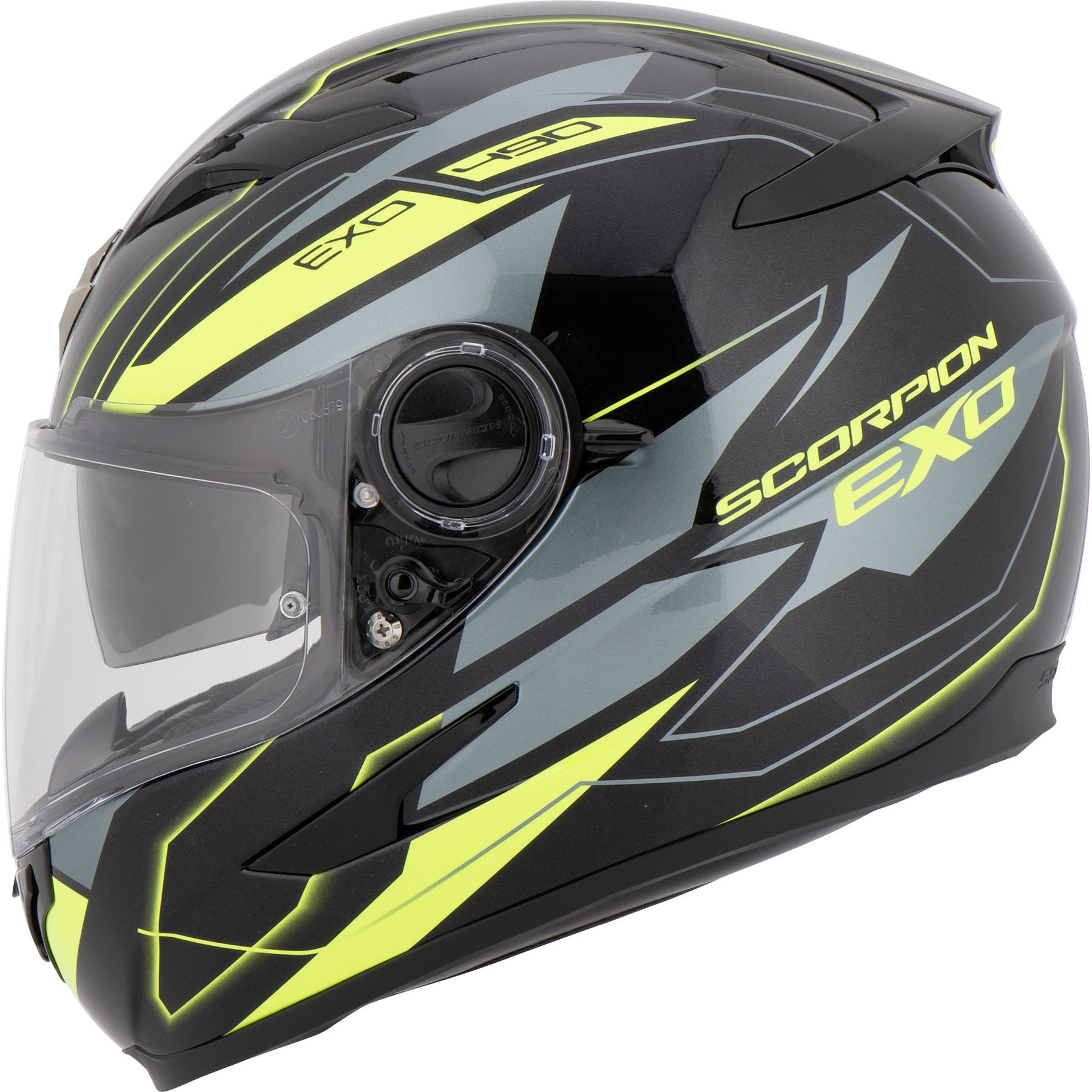 Open Face Jet Helmet Motorbike Scooter Long Visor Fluo Yellow L