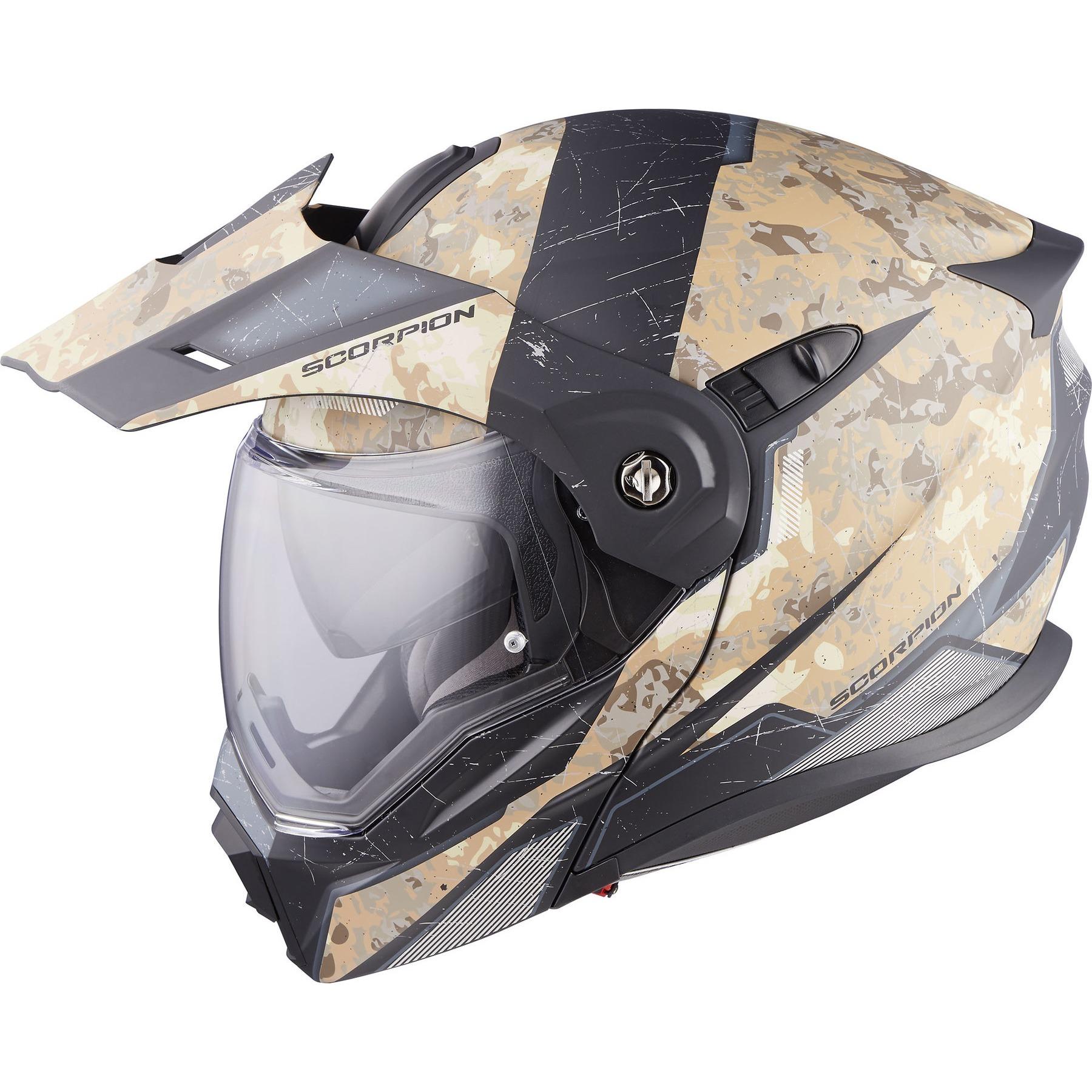 Matt Black Scorpion Casco Moto ADX-1 L
