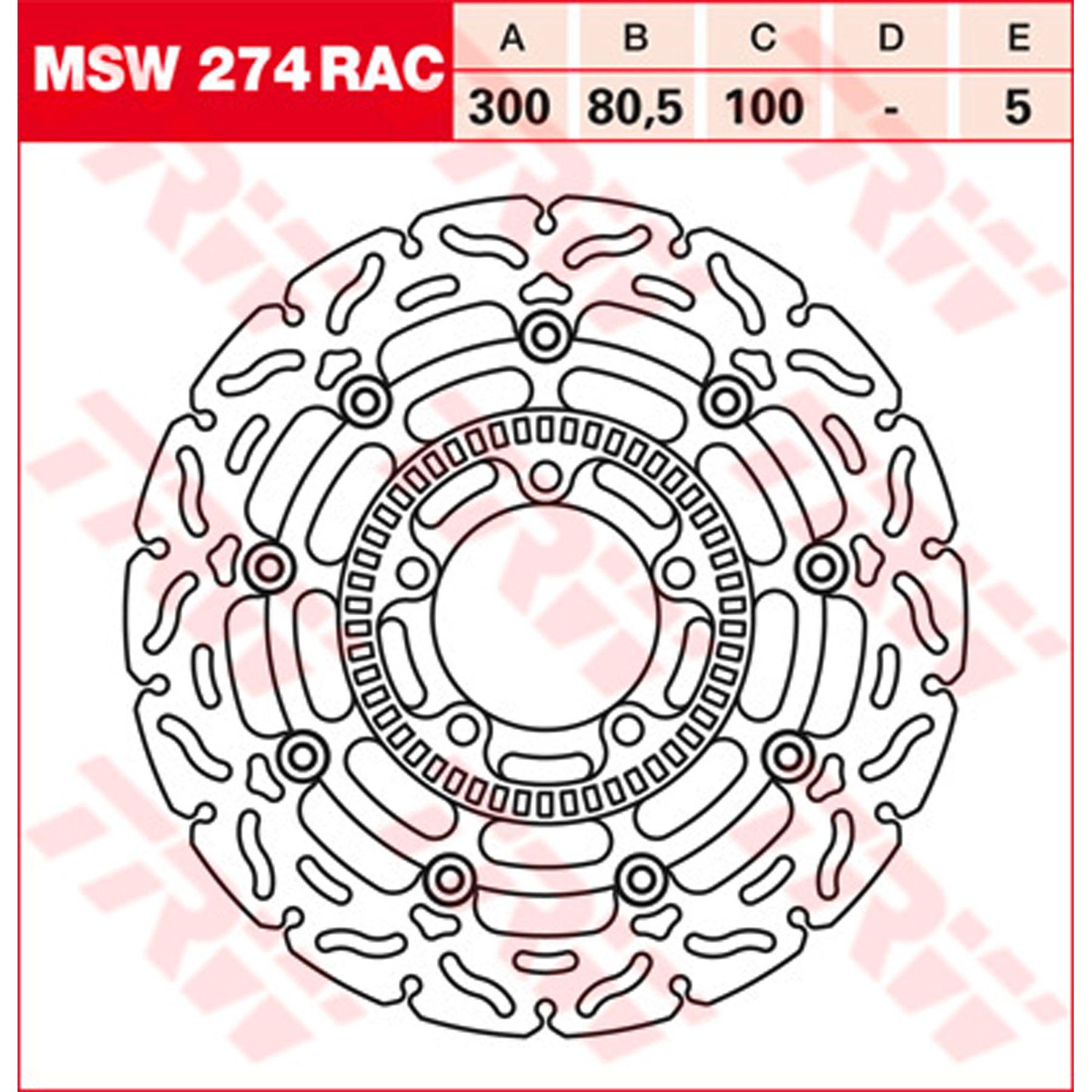 MSW255RAC 1x Bremsscheibe Bremse NEU TRW