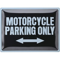 METAL. WANDB. *MOTORCYC. PARKING ONLY* 40 X 30 CM