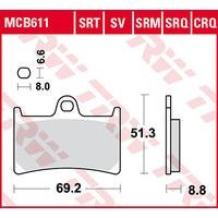 TRW BREMSBELAEGE SINTER MCB 611 SRT