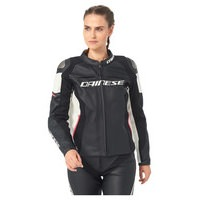 D. RACING 3 GR.40 IT46 LEDERJACKE SCHW/WEIS/PINK