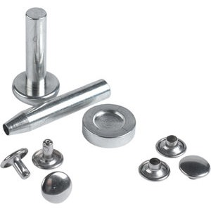 Rivets 9 mm Silver with Assembly Tools
