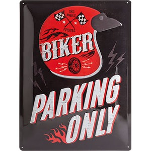 "Targa metallica ""Biker Parking Only"""