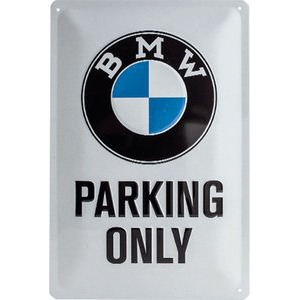 "Targa metallica BMW ""Parking only"""
