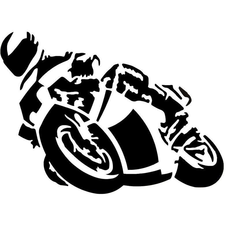 AUFKLEBER MOTORRAD SCHW.