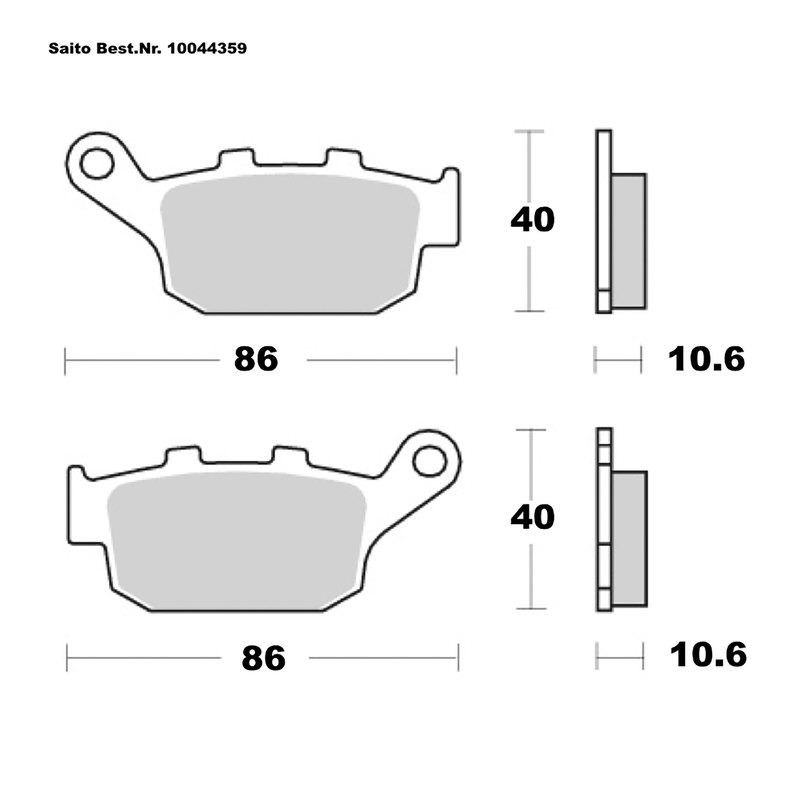 SAITO BRAKE-PADS SINTER