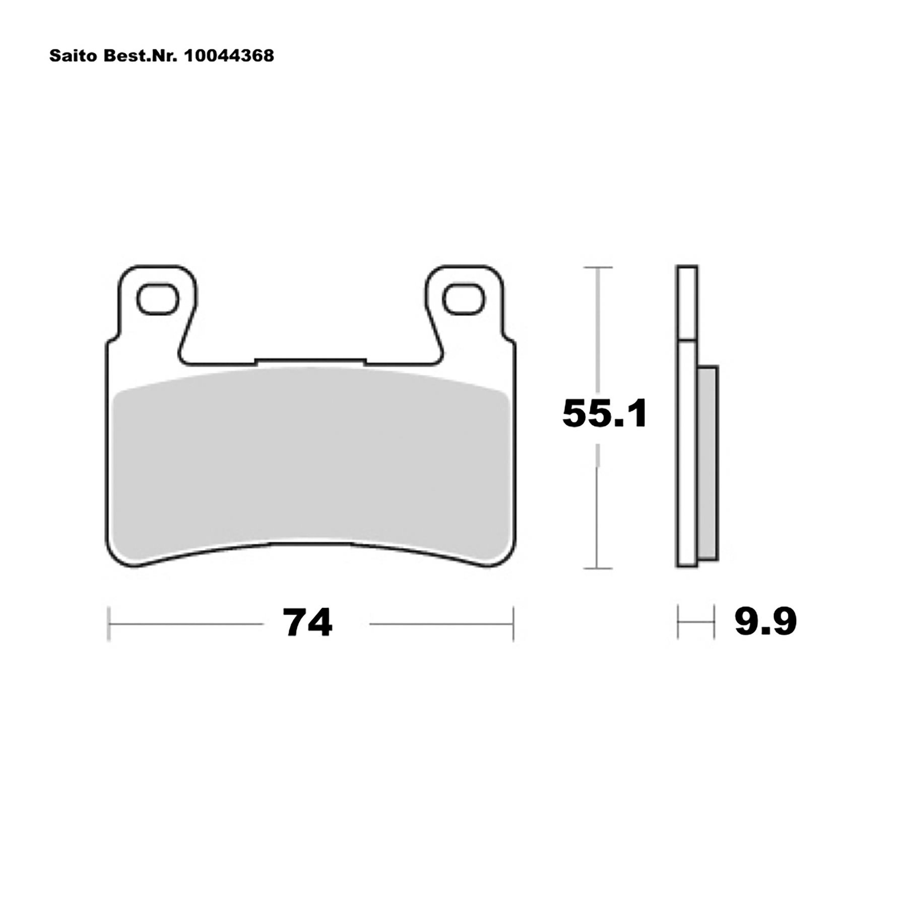 Buy Saito Brake Pads Sinter Different Honda Louis Motorcycle Clothing And Technology