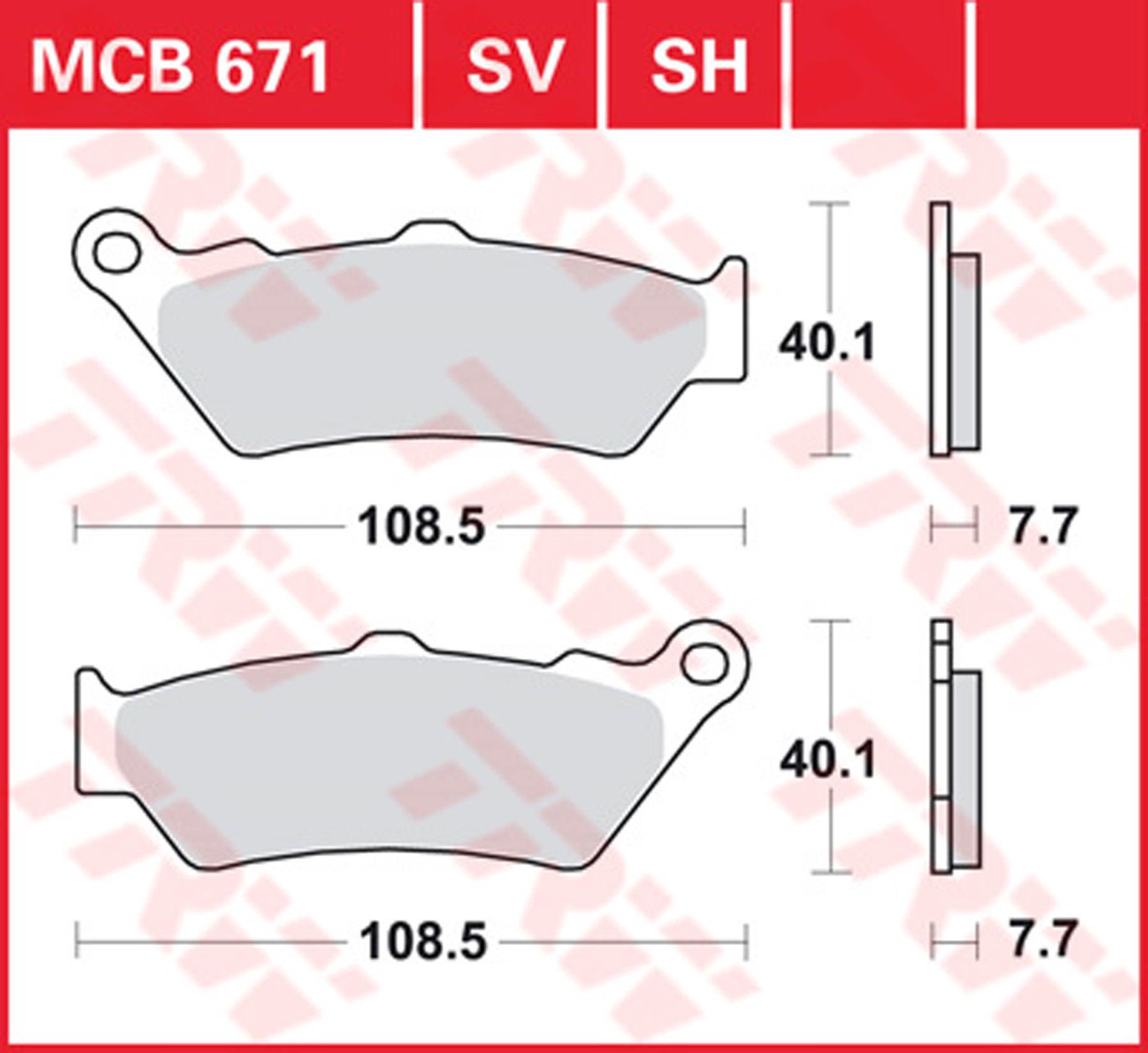 LL 03 Plaquettes de frein Avant TRW Lucas MCB 683 Moto Guzzi V 750 Breva i.e