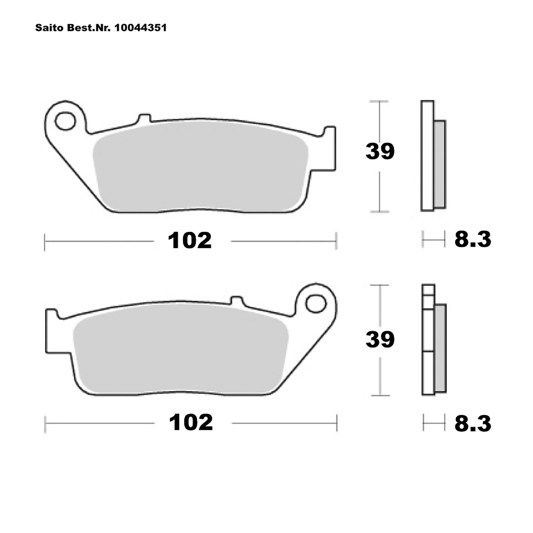 Buy Saito Brake Pads Sinter Honda Triumph Different Louis Motorcycle Clothing And Technology