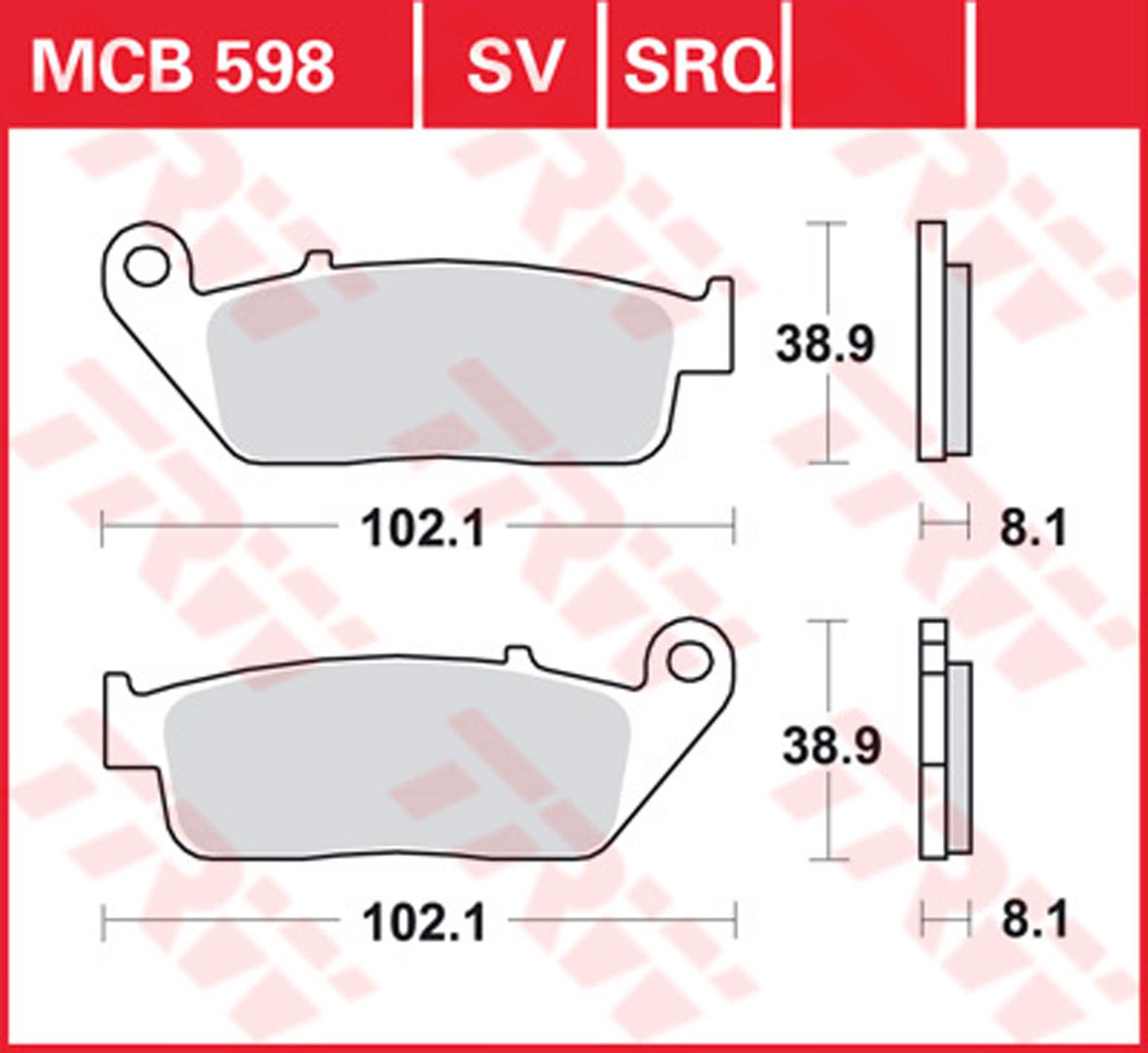 TRW//Lucas MES355-7 Stahlzwischenscheiben-Satz
