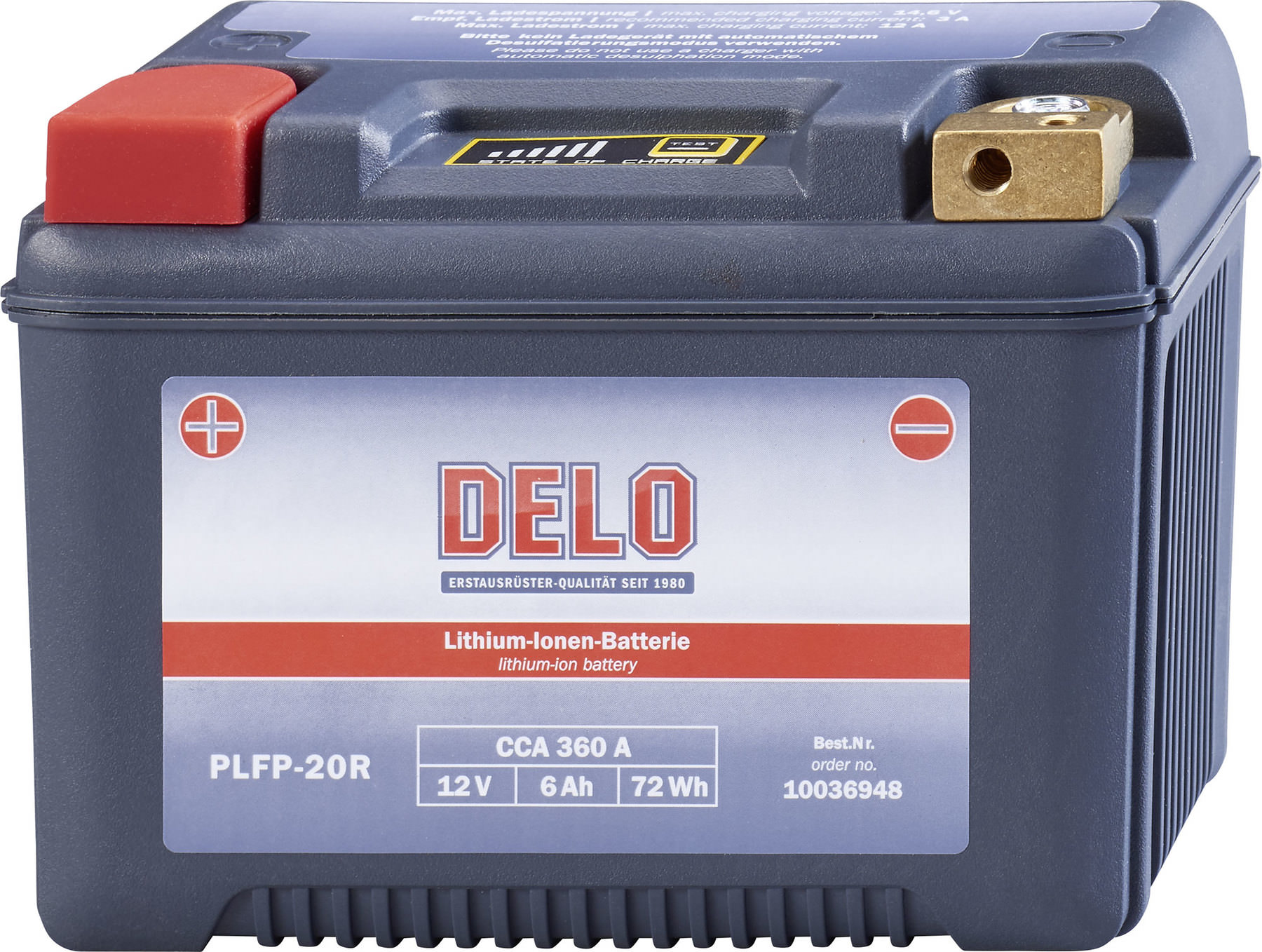 Buy Delo Lithium Ion Battery Plfp 20r 12v 6ah Cca 360a Louis Motorcycle Clothing And Technology