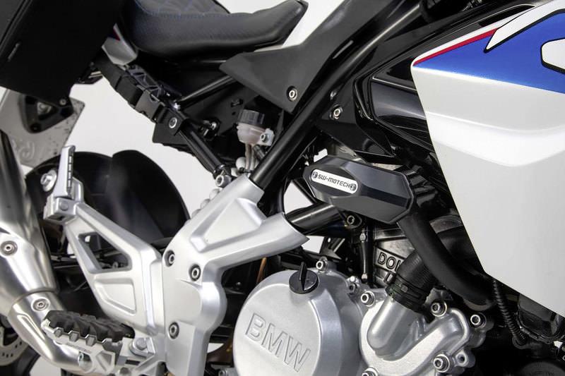 KSTE Sturzpads Motorrad 1 Paar 10mm Motorrad Auspuff Sturzpads Anti-Crash Pad Fallen Schutz Silber