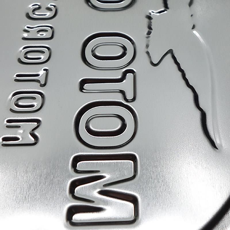 METALEN WANDBORD MOTO