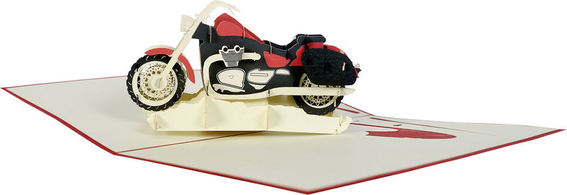 MOTORCYCLE FOLDED CARD
