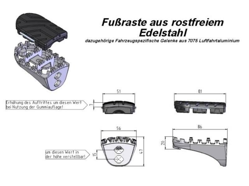 SW-MOTECH FUSSRASTEN-SET