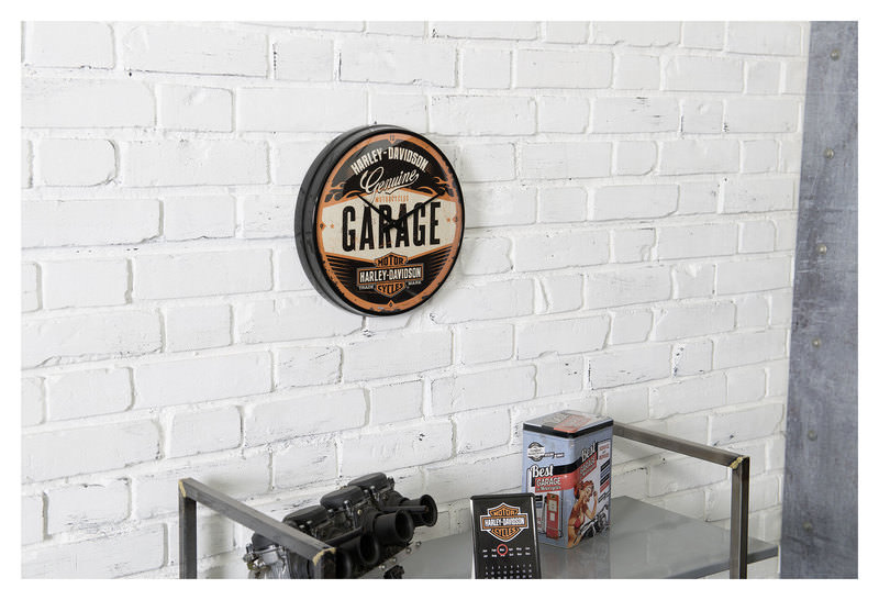 WALLCLOCK H-D *GARAGE*