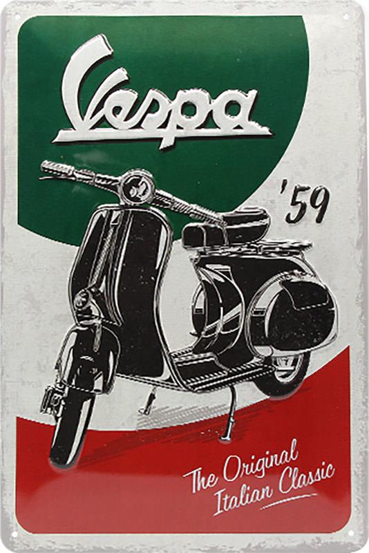 BLECHSCHILD VESPA