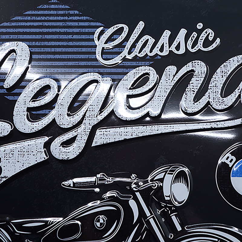 BMW LEGEND METAL SIGN