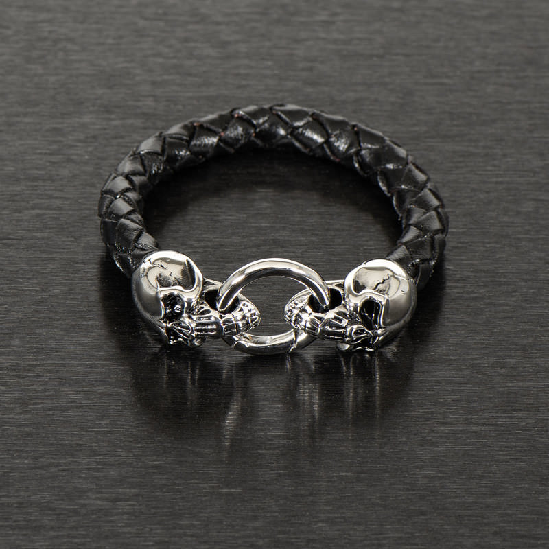 WRISTBAND *SKULL LEATHER*