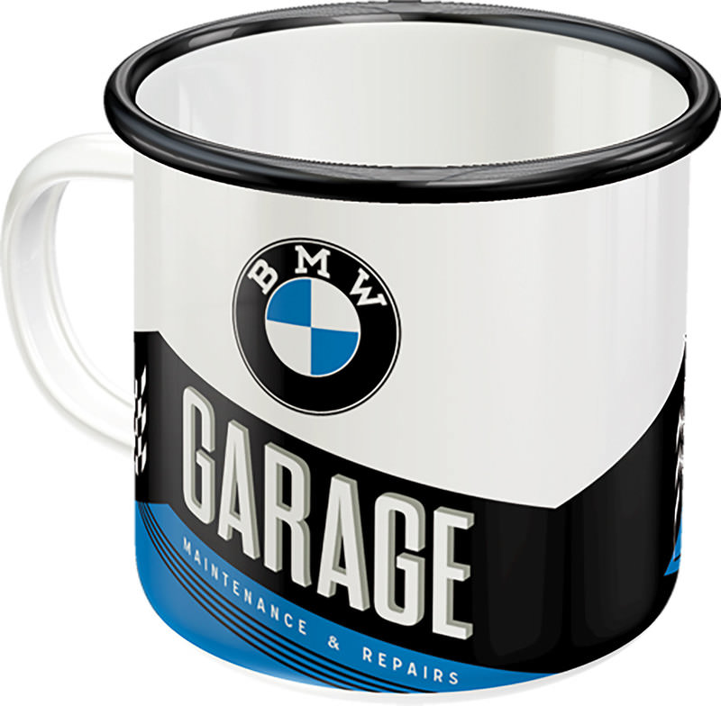 EMAILLE BECHER BMW GARAGE