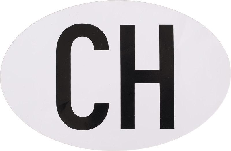 CH STICKER, WHITE, OVAL