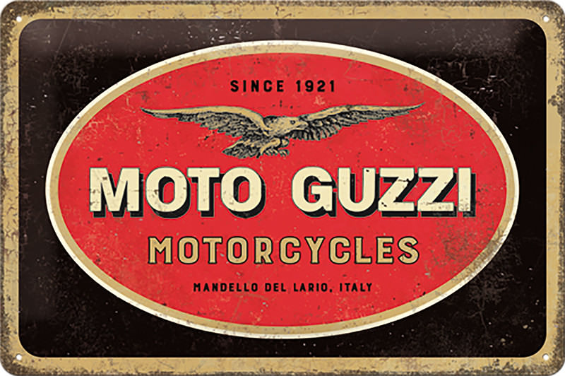 METAL TIN-SIGN MOTO